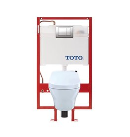 Toto TOTO CWT4372047MFG MH WASHLET C200 Wall Hung Toilet Copper Supply White