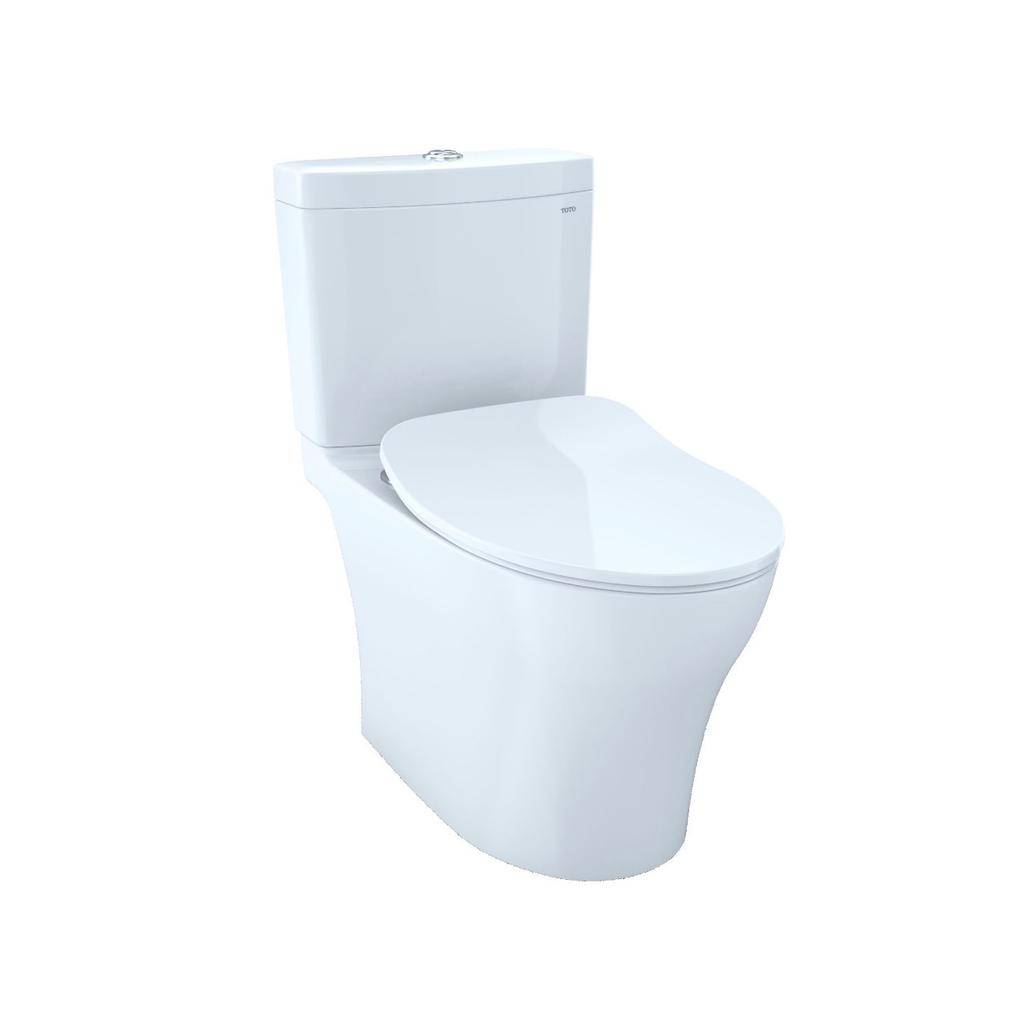 Toto TOTO MS446234CUMG Aquia IV 1G Elongated Toilet WASHLET+ Connection Cotton