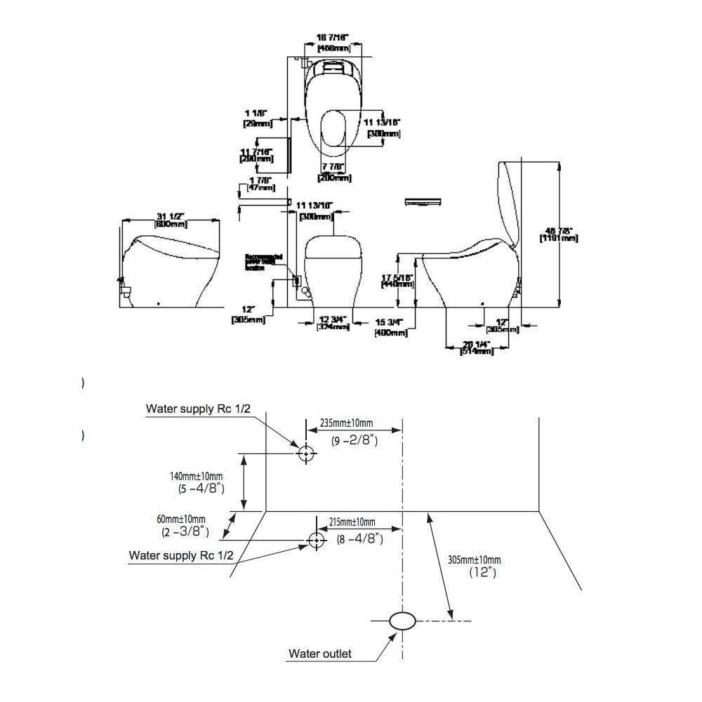 Toto TOTO MS901CUMFX NEOREST NX2 Dual Flush Toilet Cotton