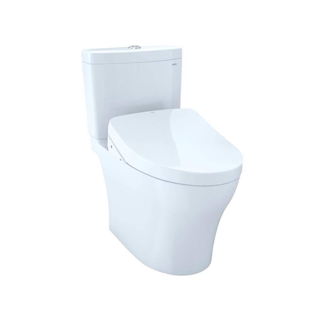 Toto TOTO MW4463046CEMFG Aquia IV WASHLET S500e Two Piece Toilet Cotton