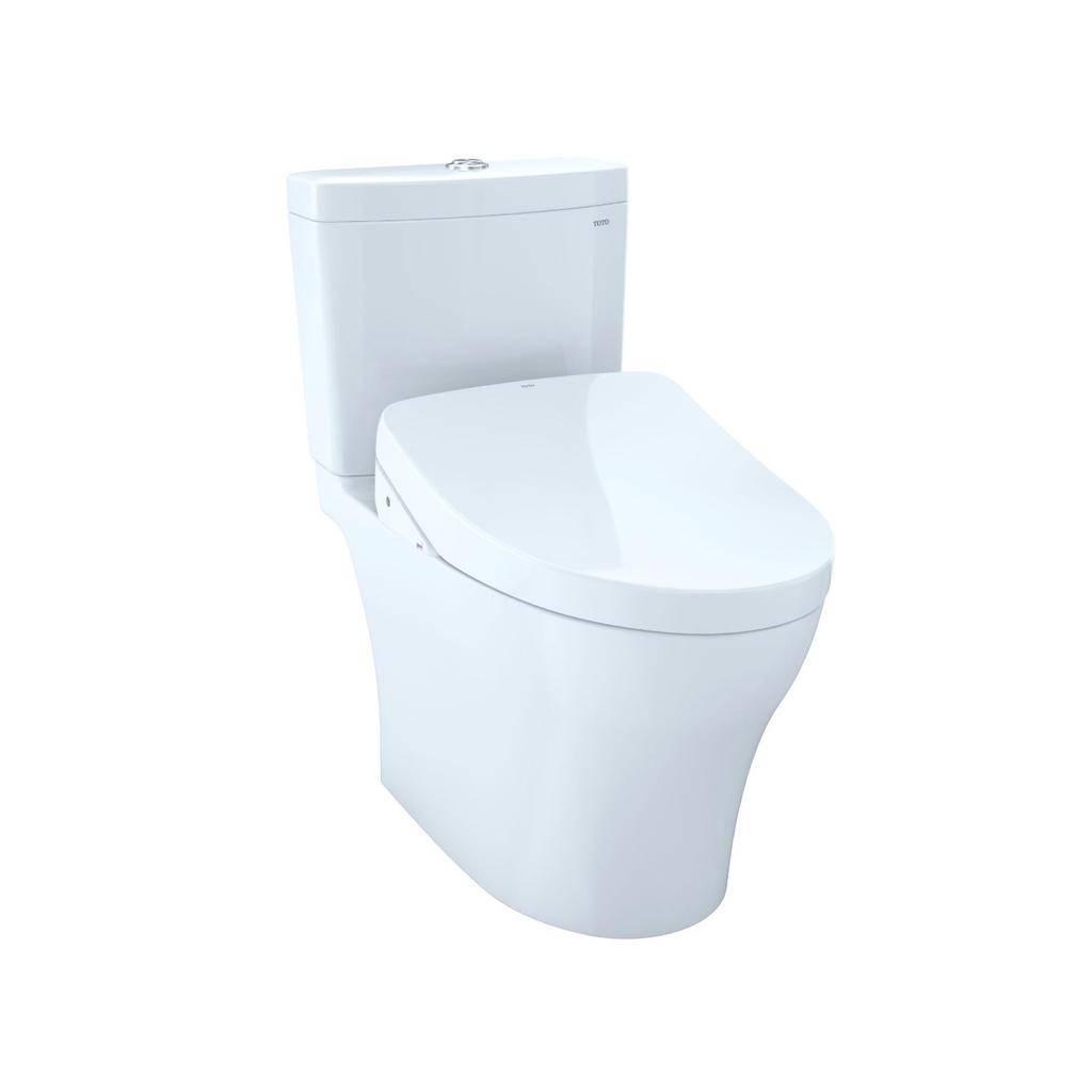 Toto TOTO MW4463046CUMFG Aquia IV 1G WASHLET S500e Two Piece Toilet Cotton