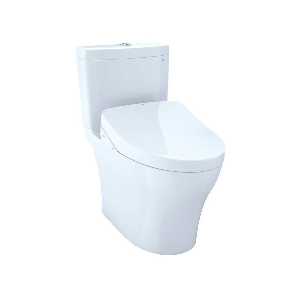 Toto TOTO MW4463056CEMFG Aquia IV WASHLET S550e Two Piece Toilet Cotton