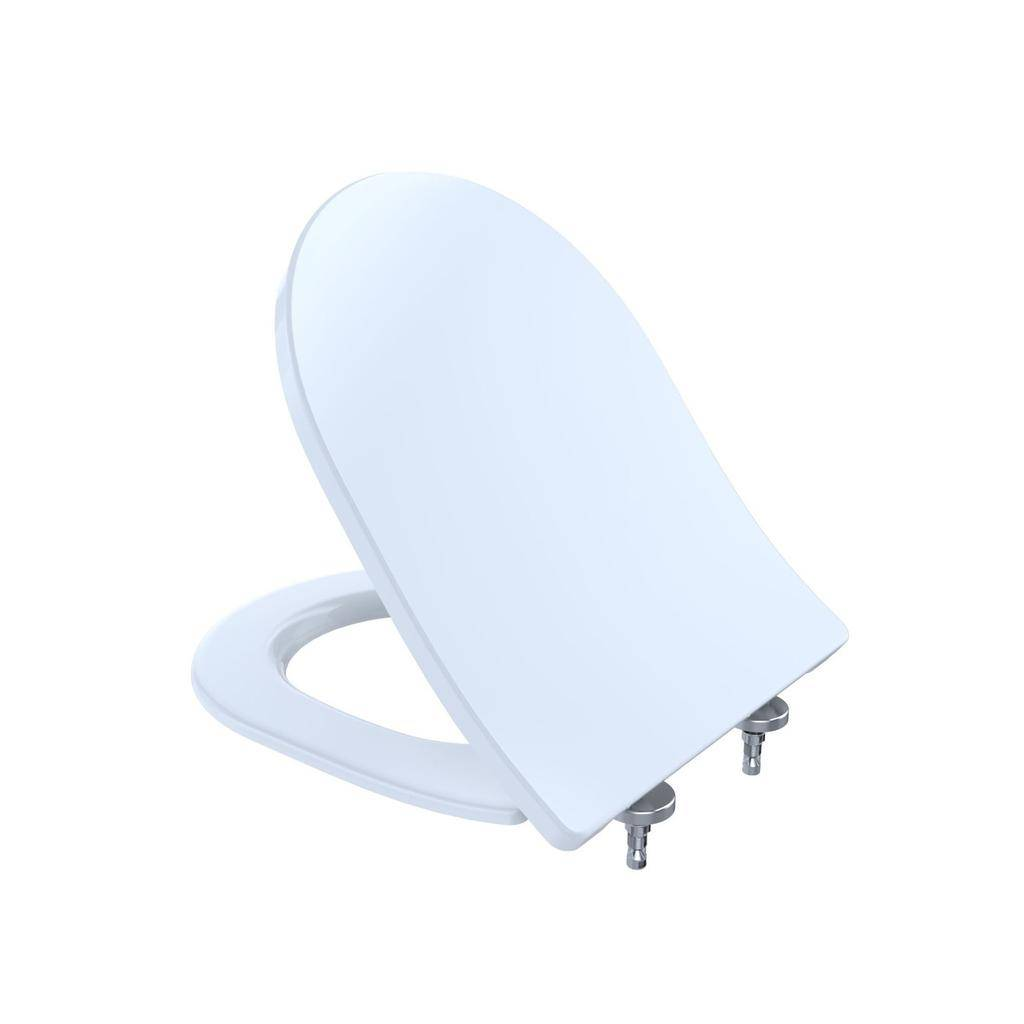 Toto TOTO SS237 Slim D Shaped SoftClose Toilet Seat Cotton