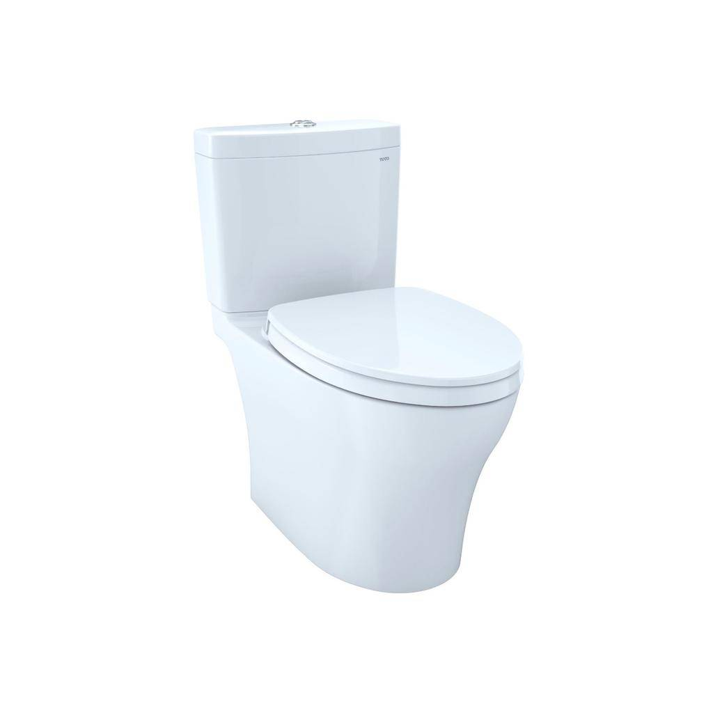 TOTO CST446CUMFG Aquia IV Elongated Toilet Universal Height Cotton ...