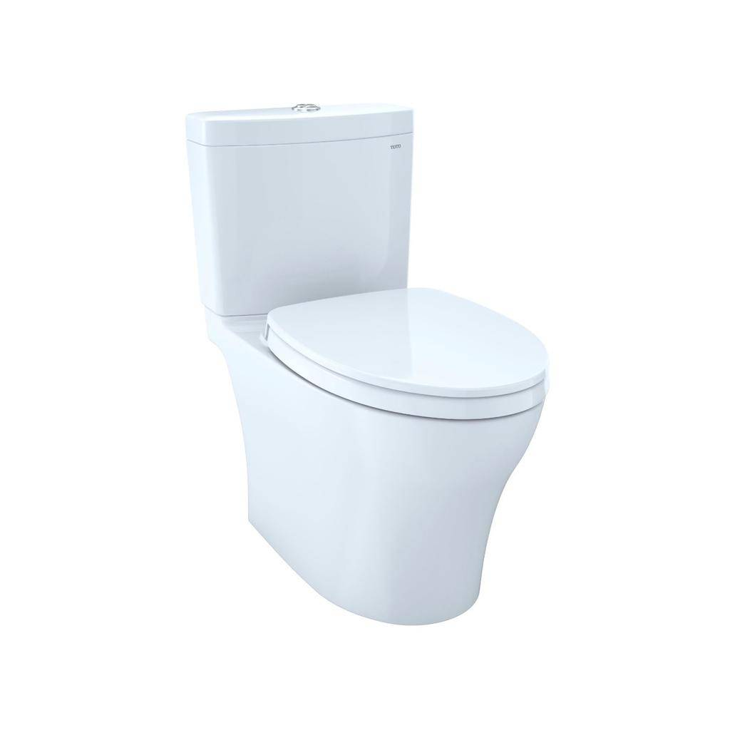 TOTO CST446CEMFG Aquia IV Elongated Toilet Universal Height Cotton ...