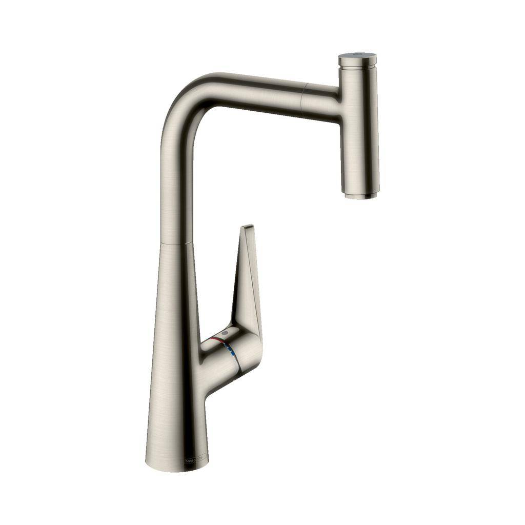Hansgrohe 72821801 Talis S Higharc Pull Out Kitchen Faucet Steel