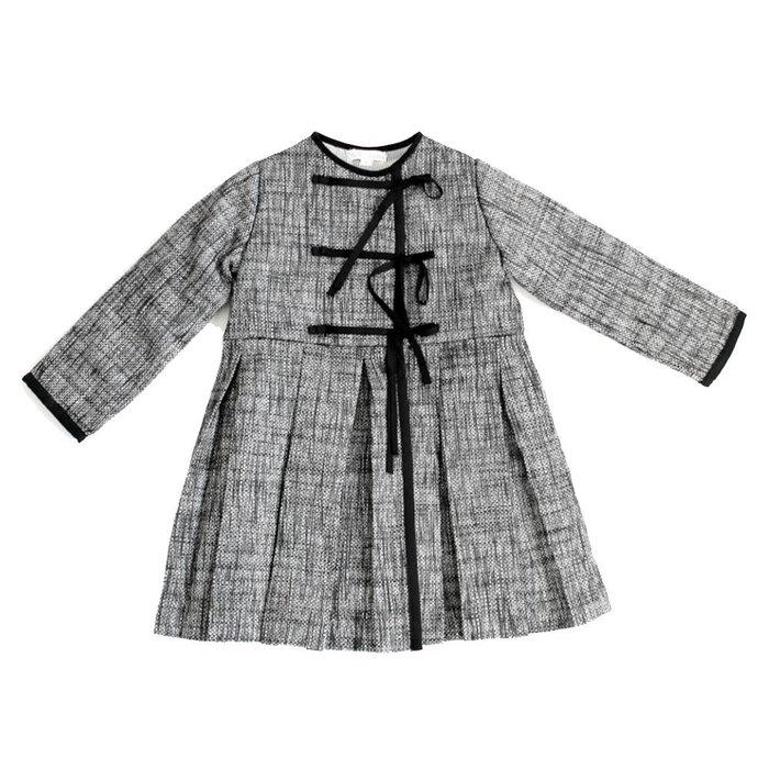Belle Chiara Pleated Ribbon Coat