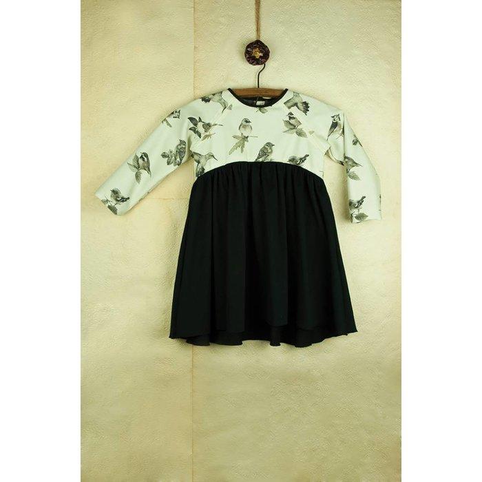Popelin Bird Print Dress