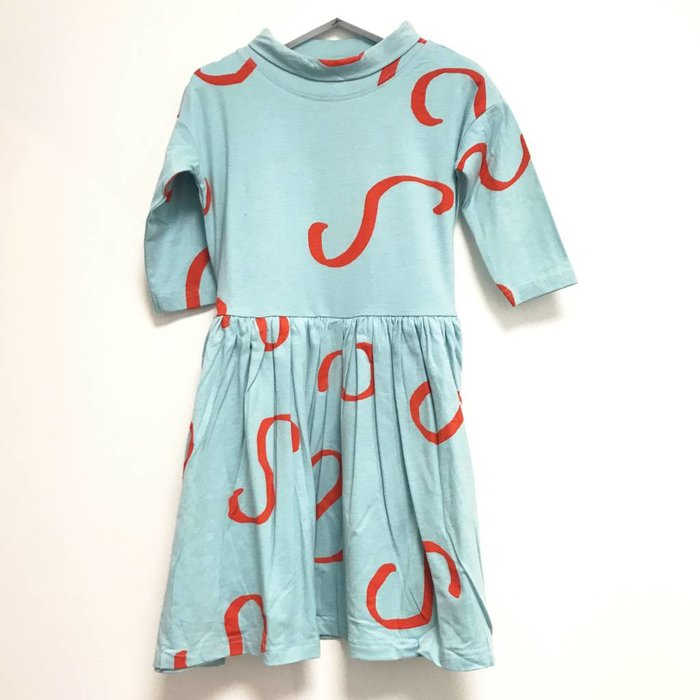 Zebra Snake Neck Dress
