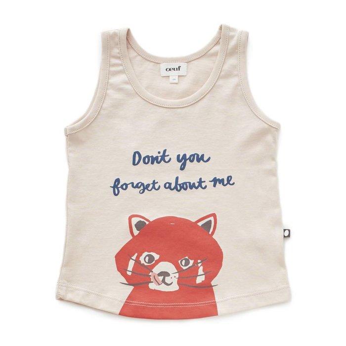 Tank Top Pink/Red Panda