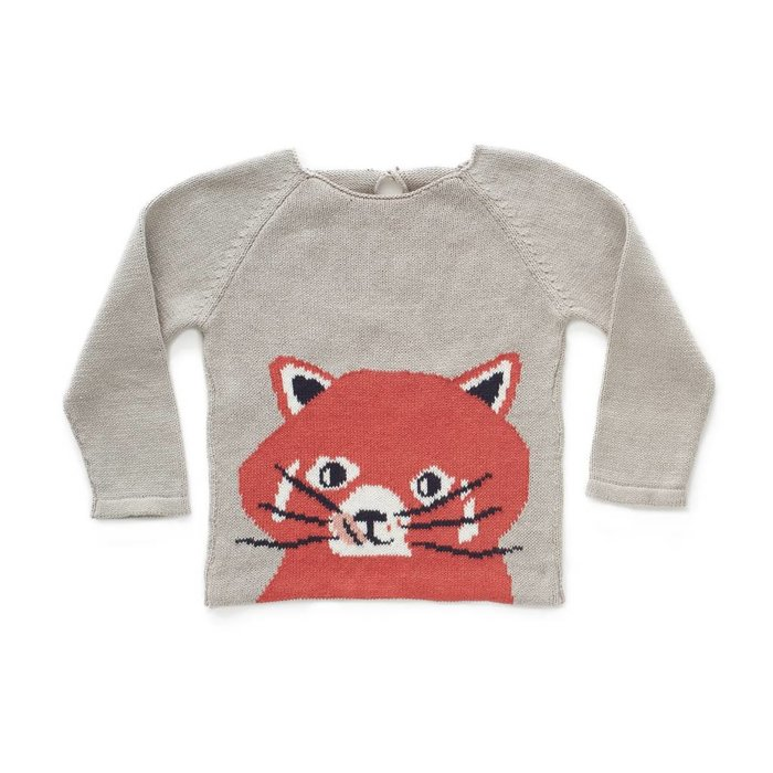 Red Panda Sweater Lights Grey/Multi