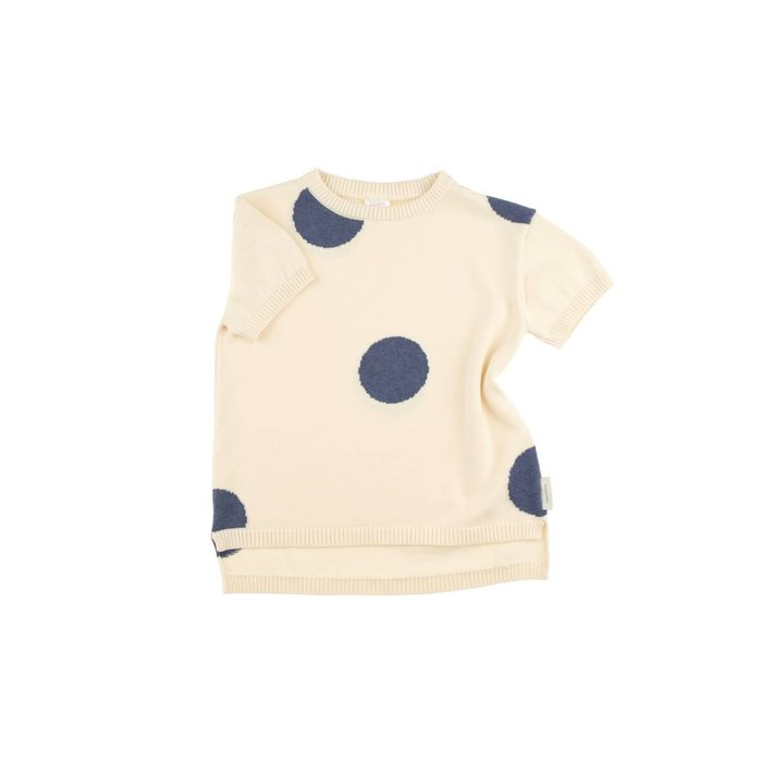 Dots Sweater Off White/Blue