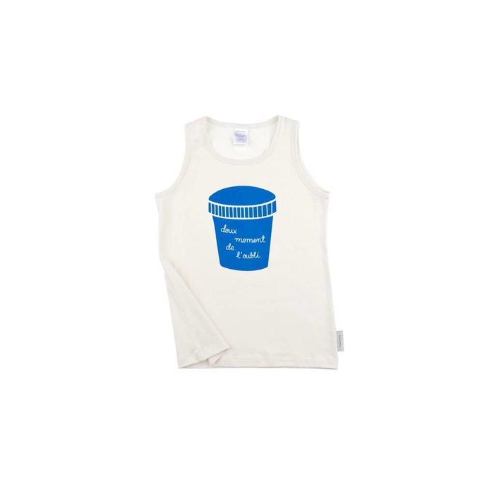 Big Ice Cream Pot Tank Top White/Blue