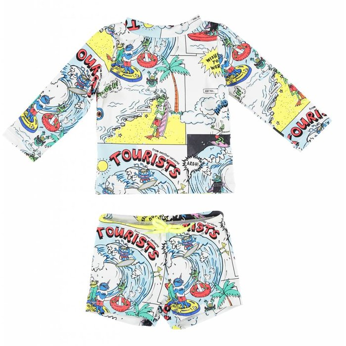 Baby Boy Cartoon Set Multi