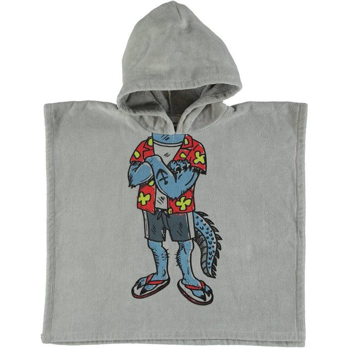 Cartoon Beach Towel Grey
