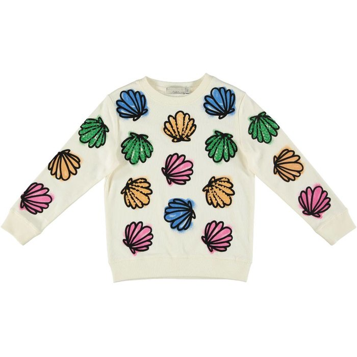 Colorful Seashell Sweater Cream