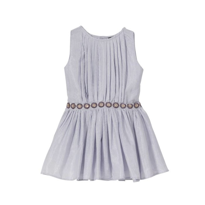 Anila- Pleated Party Dress Lilac Lame