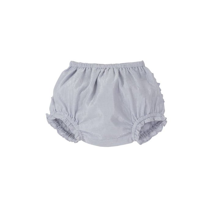 Cecily- Ruffle Baby Bloomer Lilac Lame