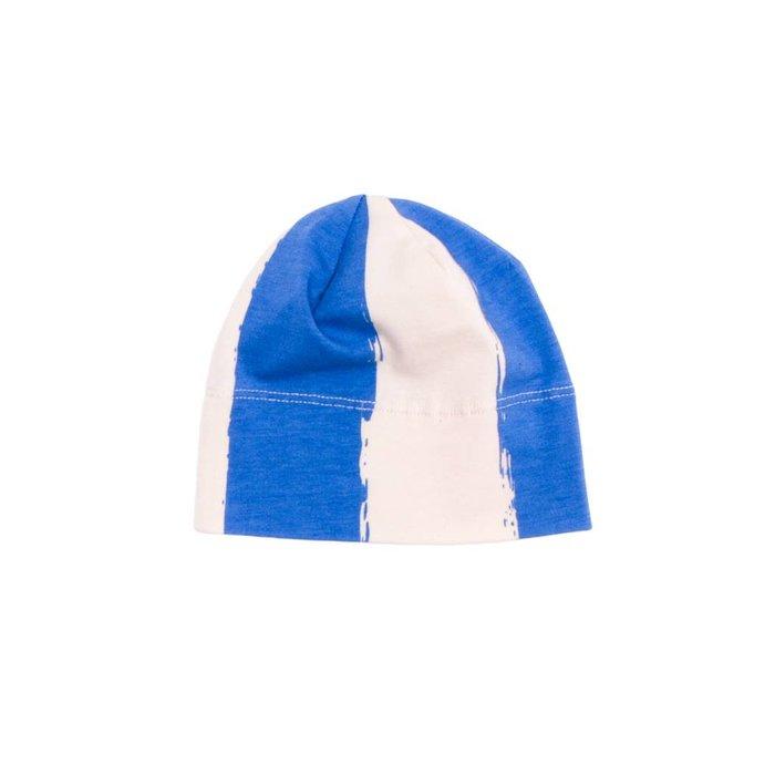 Beanie Blue Stripes XL