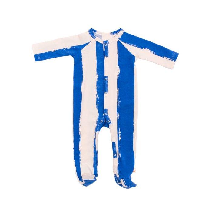 Footie Blue Stripes XL
