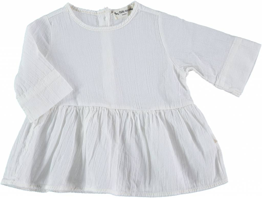 Santorini dress Blouse Long Sleeve Ivory
