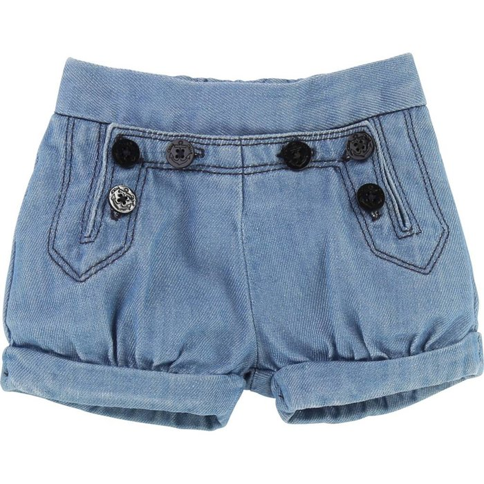 Light Denim Sailor Shorts Denim Blue