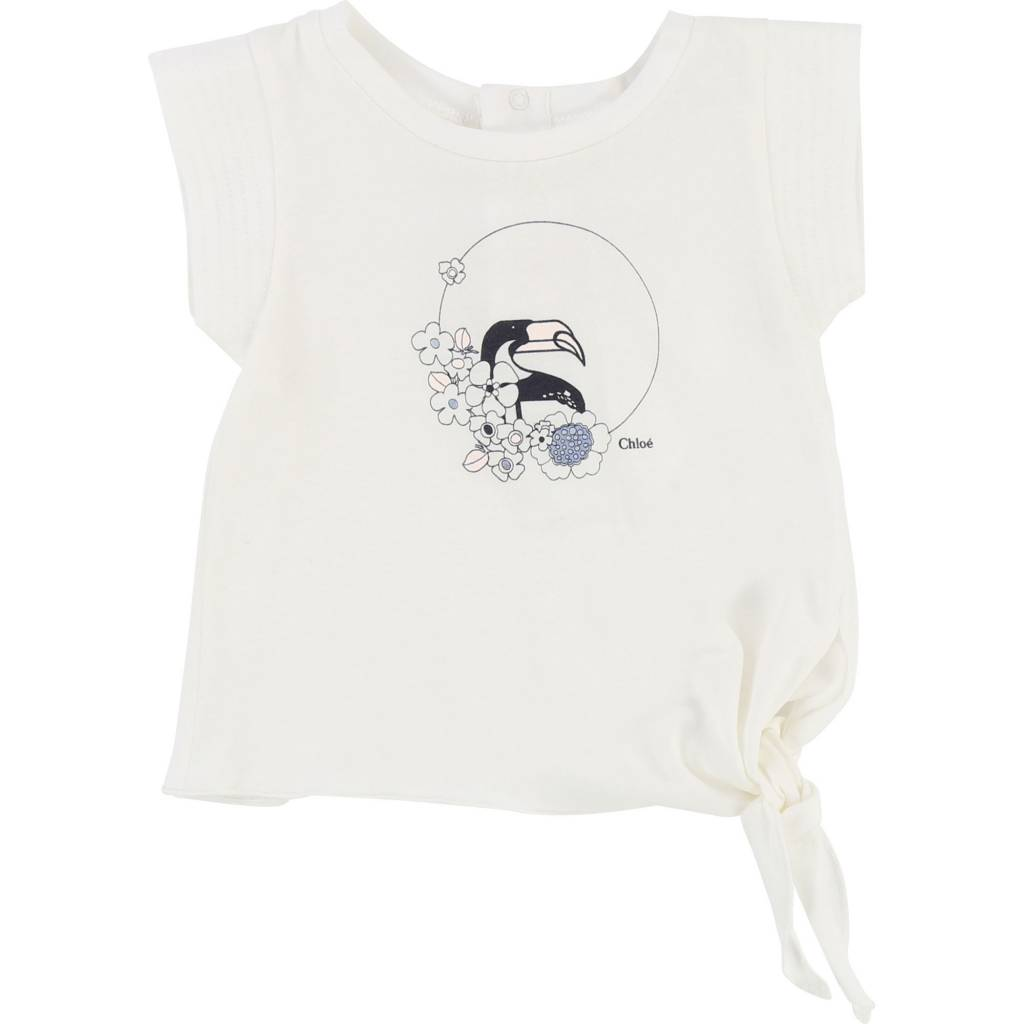 Knotted Tee Shirt Off White