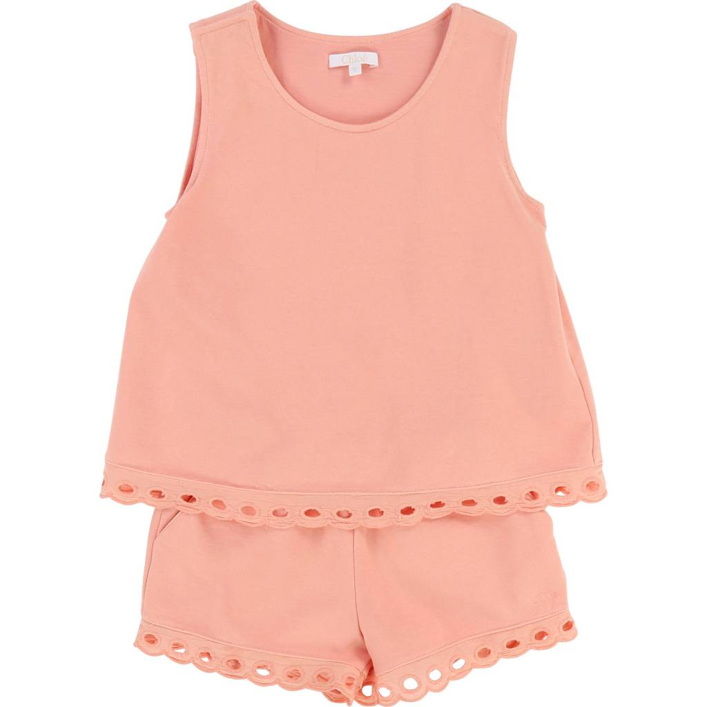 Milano Romper with Percale Details Rosalie