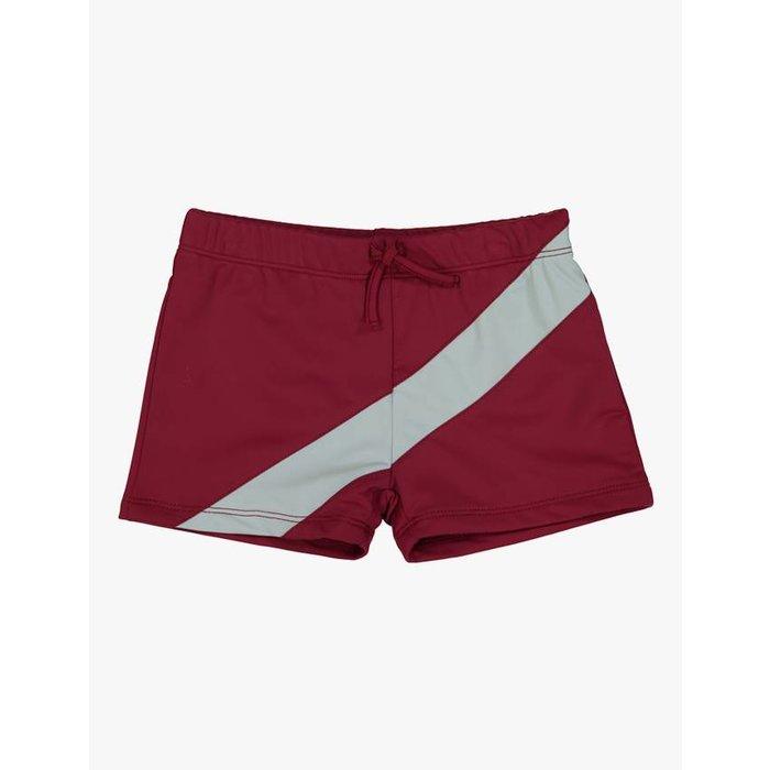 Tight Boys Swim Trunk Red/Grey