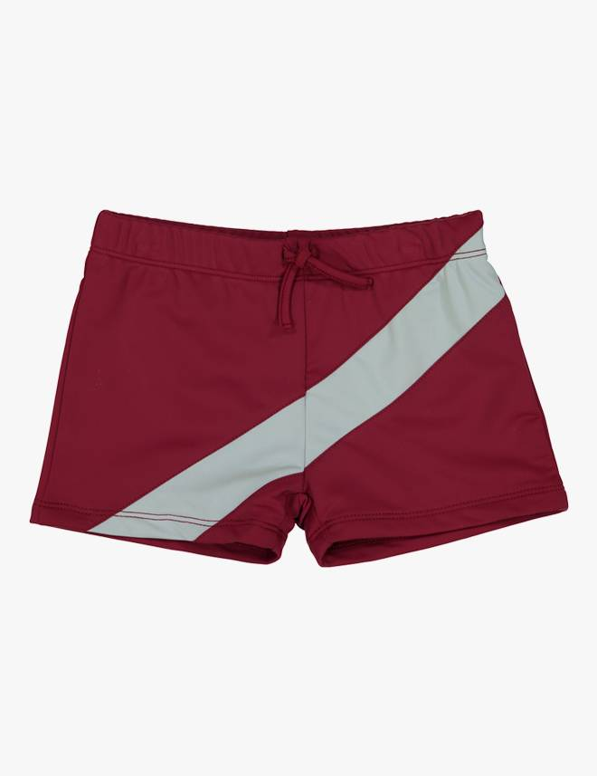 Tight Boys Swim Trunk Red/Grey