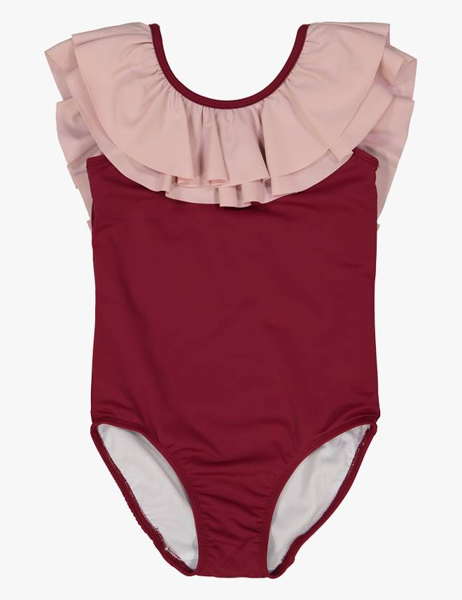 One Piece Swimsuit Red/Muave