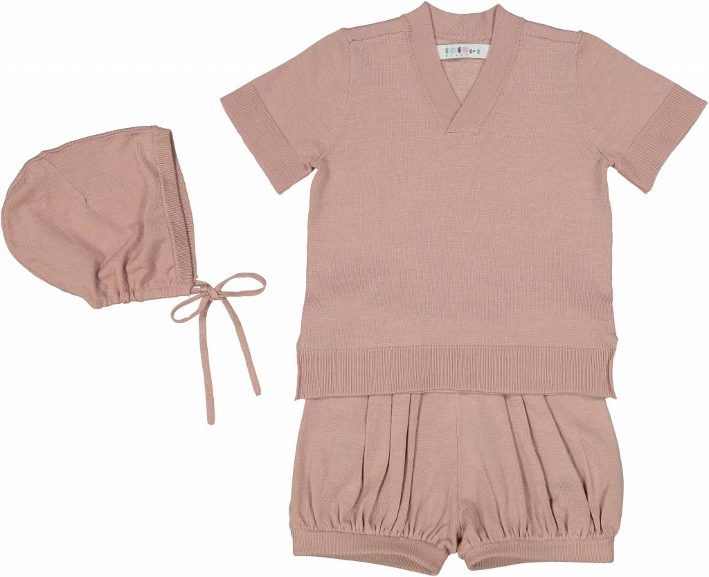 Baby Sweater Set Soft Pink