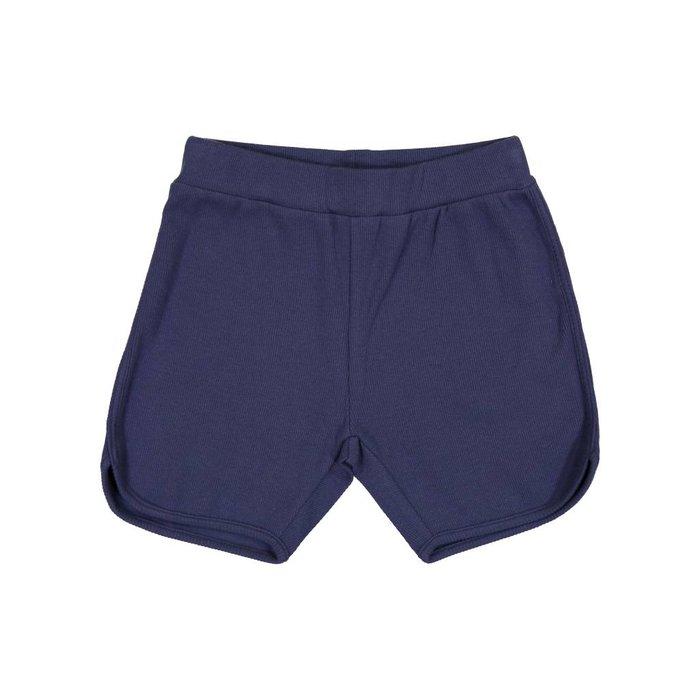 Ribbed Shorts Blue