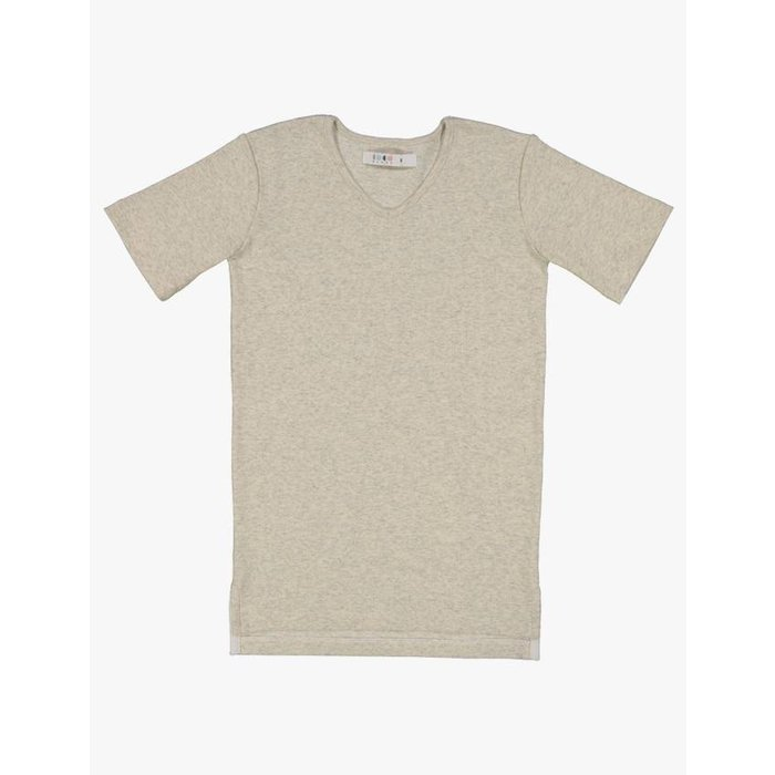 Vneck Ribbed Top Oatmeal Heather