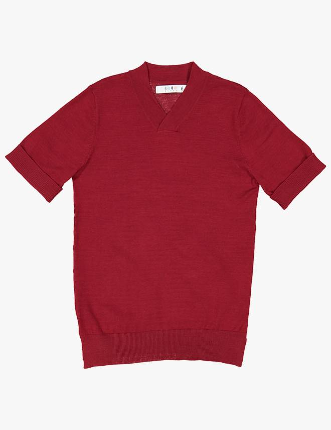 Dressy Vneck Sweater Red