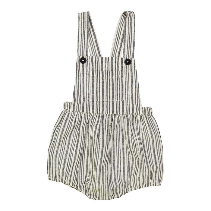 Camion Overall Black and White Stripes