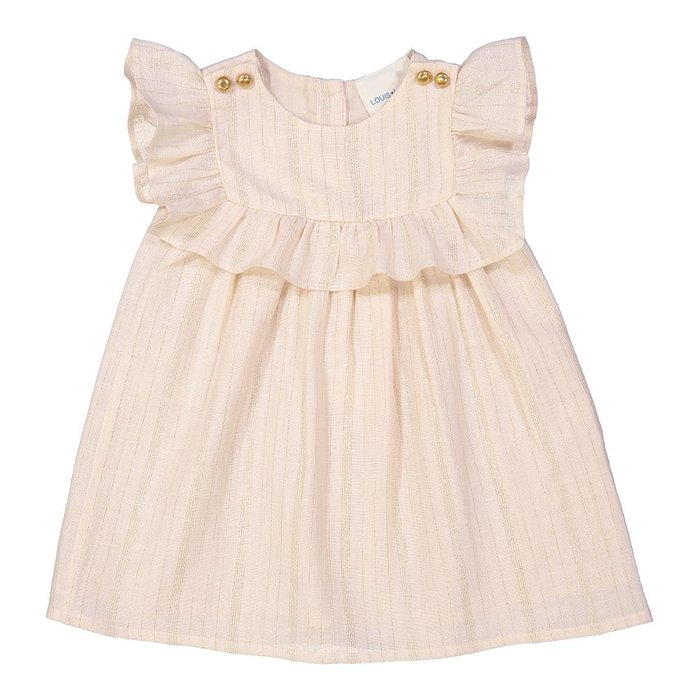 Annie Dress Light Pink/Gold Stripes