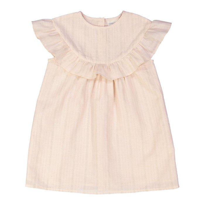 Angelina Dress Light Pink/Gold Stripes