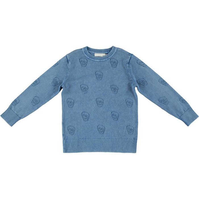 Skull Sweater Blue