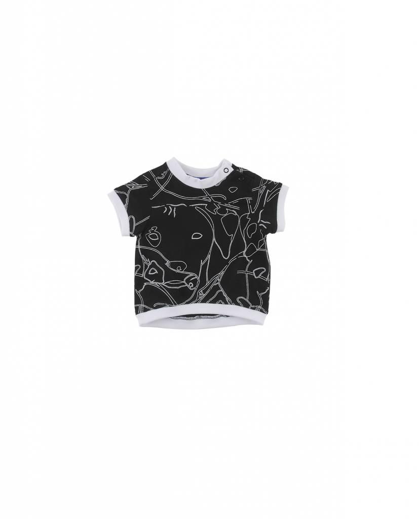 Tshirt Regular Fit Black/White