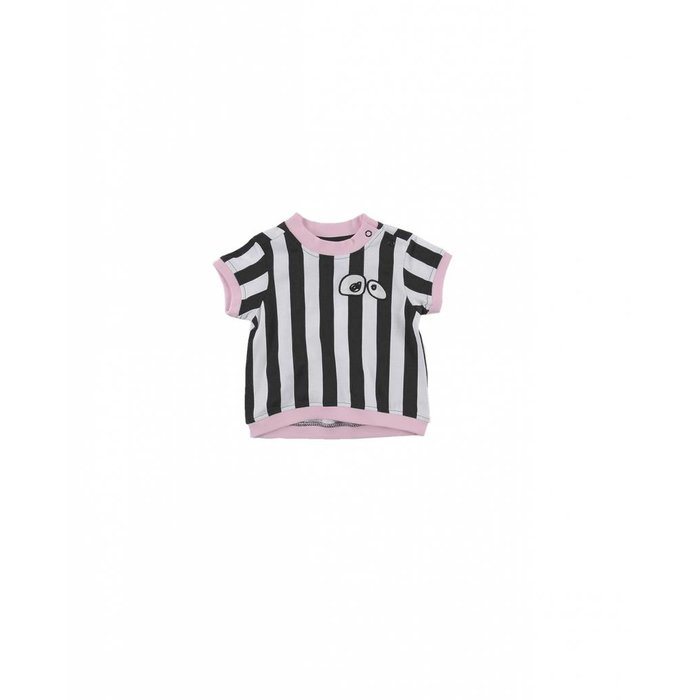 Tshirt Regular Fit Stripe/Pink Lady