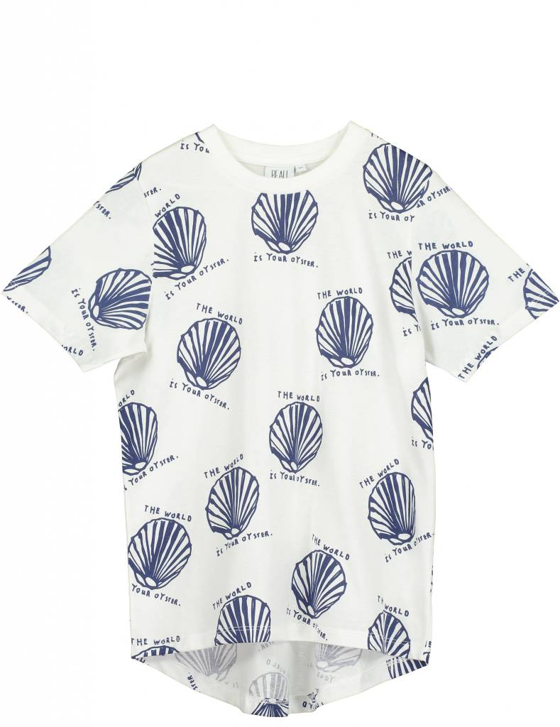 Short Sleeve Fin T Shirt Vanilla Oyster