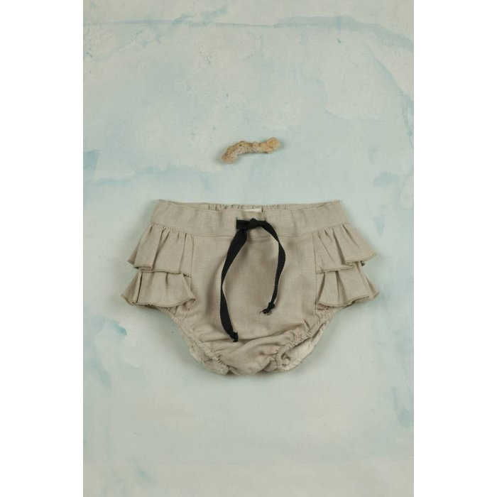 Culotte with Frills Beige