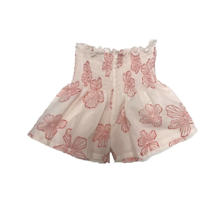 Zia Shorts Red Flowers