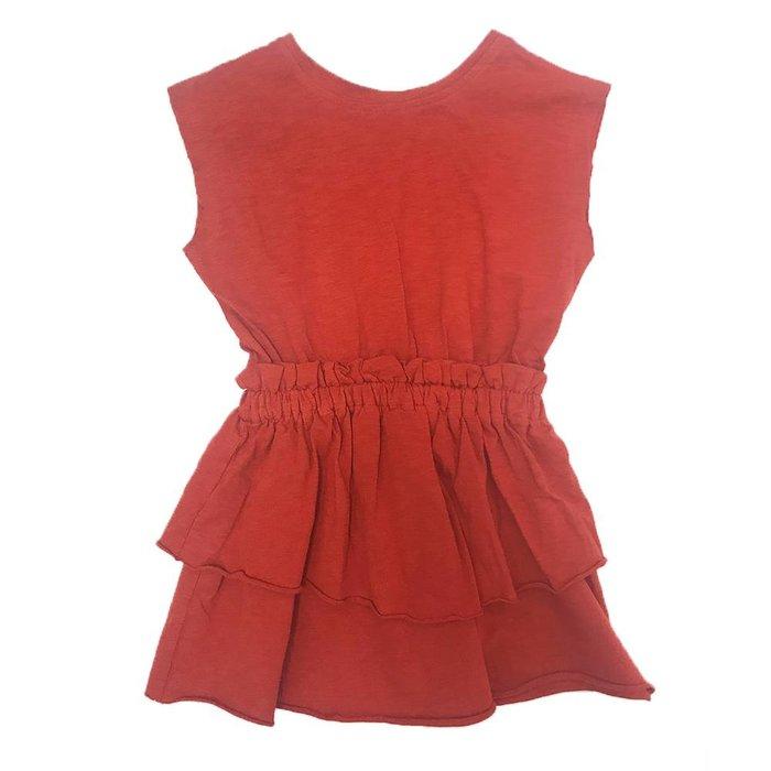 Diane Dress Dark Red
