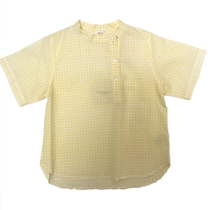 Vadmin Shirt Yellow Squares