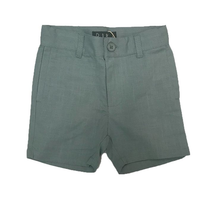 Textured Bermuda with Slant Pockets Dusty Aqua
