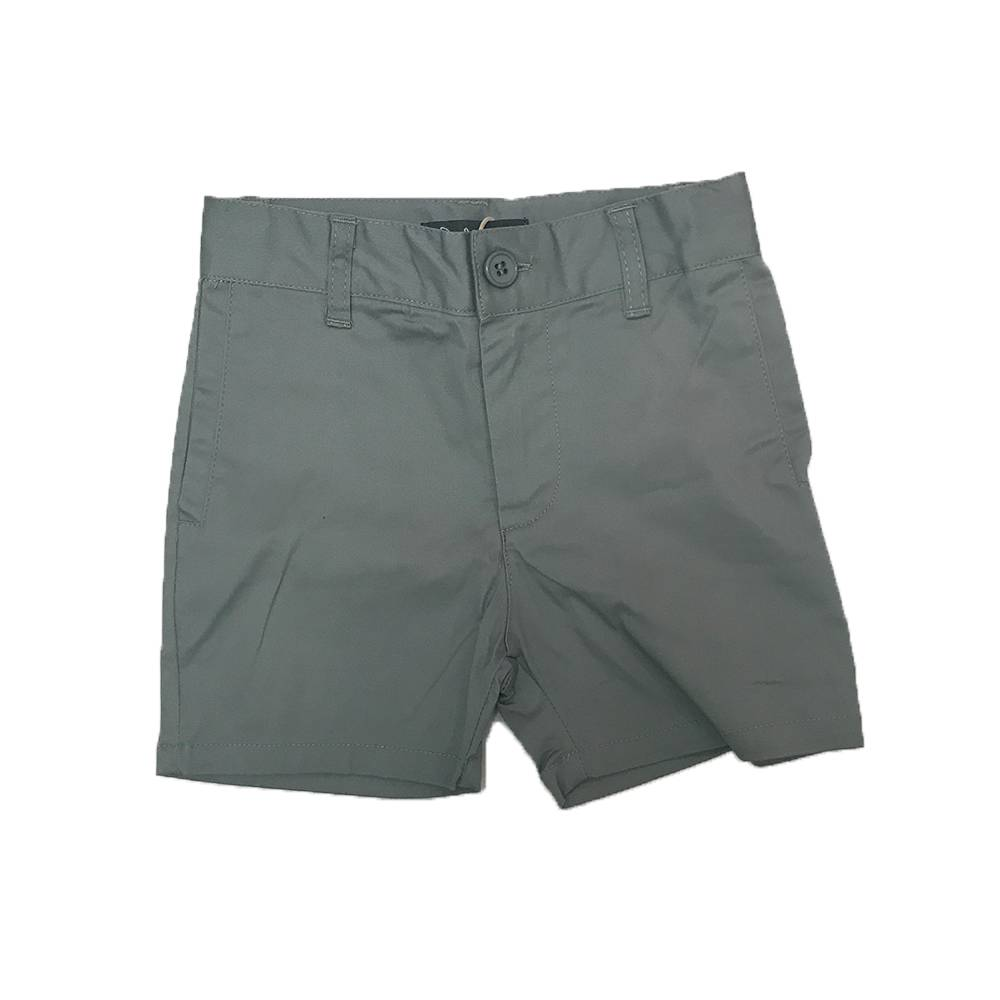 Cotton Bermuda with Slant Pockets Light Grey