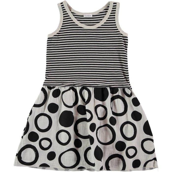 Girls Dress Black/White