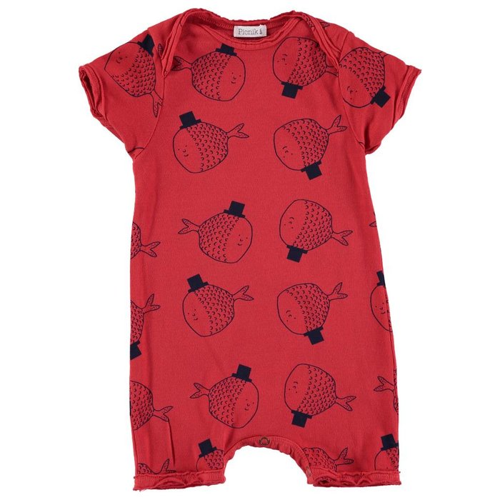Baby Romper Red Fish